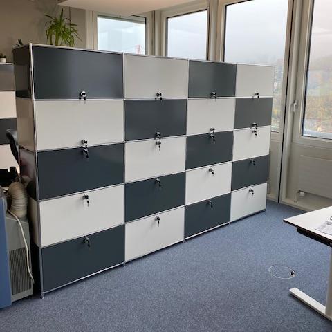 modulares Schranksystem Hoch weiss anthrazit_neu